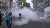 Clashes at Paris demonstration