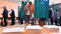 Candidates vote in presidential poll
