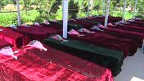 افغانستان در ماتم ۱۴۰ سرباز کشته شده حمله بلخ