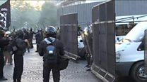 French police clash with anti-FN protesters