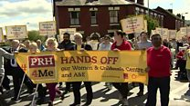 Noisy protest over A&E downgrade plans