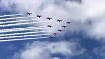 Red Arrows in Yorkshire