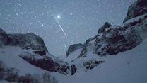 La espectacular lluvia de meteoros que iluminó el cielo de China