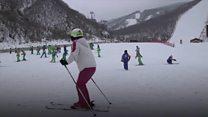 Where North Koreans go to ski