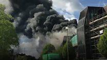 Smoke billows from Christie hospital