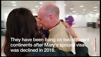 Family forced to live apart reunited