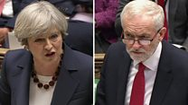 May and Corbyn clash on housing and schools