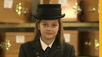 The 12-year-old trainee funeral director