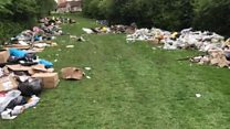 Huge flytipping site clean-up under way
