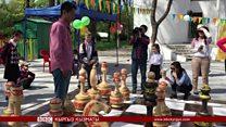 Бишкектеги өзгөчө шахмат аянтчасы