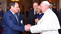 Pope in Egypt for historic visit