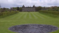 Massive sculptures at stately home