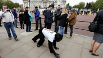 Moment 'Mr Gorilla' finishes marathon