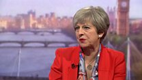 May denies 'robotic' message