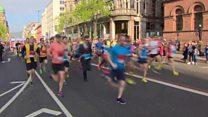 Start of the Belfast Marathon
