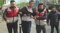 İstanbul 1 may nümayişindən görüntülər