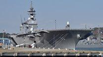 """Япония впервые отправила за рубеж вертолетоносец """"Идзумо"""""""