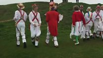 May Day Morris dancers in Gloucestershire