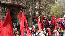 """Yerevanda 1 may yürüşü: """"Respublikada elm, təhsil, mədəniyyət var idi"""""""