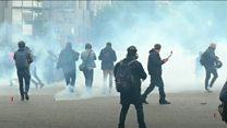 Столкновения на первомайском марше в Париже