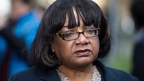 Diane Abbott trips through police policy