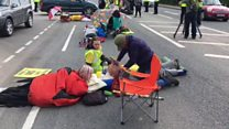 Anti-fracking protesters 'lock on'