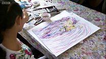 सेरेब्रल पाल्सी भएकी बाल चित्रकार