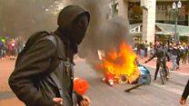 Portland protests turn violent