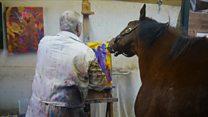 Metro, o cavalo de corrida que escapou de ser sacrificado ao virar pintor