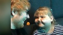 Sheeran treats ill girl to one-to-one gig