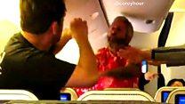 شجار عنيف على متن طائرة في طريقها إلى أميركا