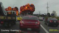 Piloto sobrevive a acidente espetacular de avião nos EUA