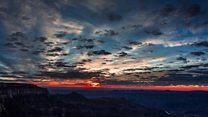 Büyük Kanyon'da bulutlar