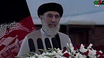 مراسم پذیرایی از گلبدین حکمتیار، رهبر حزب اسلامی