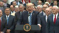 Trump cheers House vote on healthcare