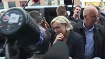 Egg thrown at Le Pen on campaign trail