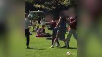 Violence filmed in Belfast's Botanic Gardens
