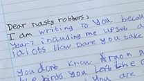 Pupils' furious letters to bird thieves