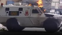Armoured car hits Venezuelan protesters