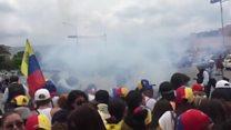 Tear gas used at Venezuela women's march