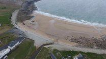The disappearing Irish beach returns
