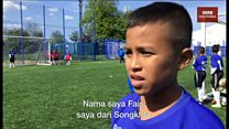 'Pahlawan-pahlawan kecil dari Thailand Selatan' latihan di klub bola Leicester City