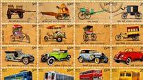 نقل و حمل کے ذرائع پر انڈین ڈاک ٹکٹ