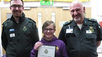 Award for 999 girl who saved uncle's life