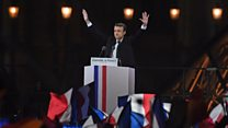 Emmanuel Macron elected French president