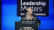 Man shoves pie in Qantas boss's face