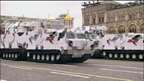 Russian parade features Arctic missiles