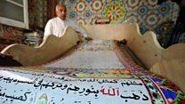 """مصري يخُط """"أكبر نسخة من القرآن"""" بطول 700 متر"""