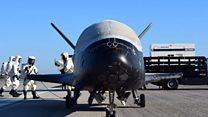 Secret space plane lands back on Earth