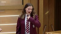 Pupil's sign language address to MSPs